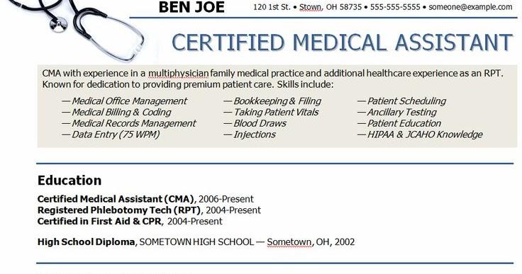 Medical Assistant Sample Resume Sample Resumes - certified medical assistant sample resume