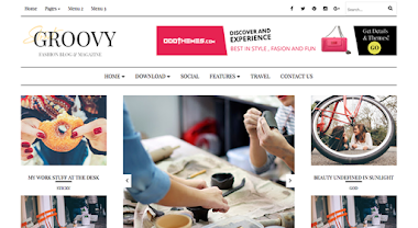 Groovy Fashion Blogger Template