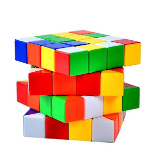 Ohuhu 4x4x4 Stickerless and Anti-pop Speed Cube with Solid Color Image