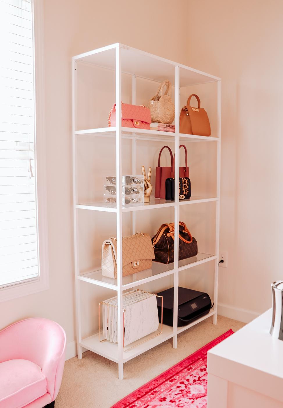 office purse shelving