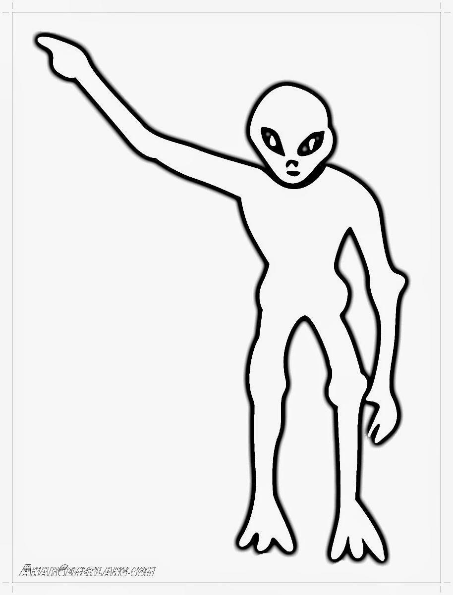gambar alien untuk mewarnai