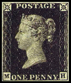The Penny Black, the first official adhesive postage stamp