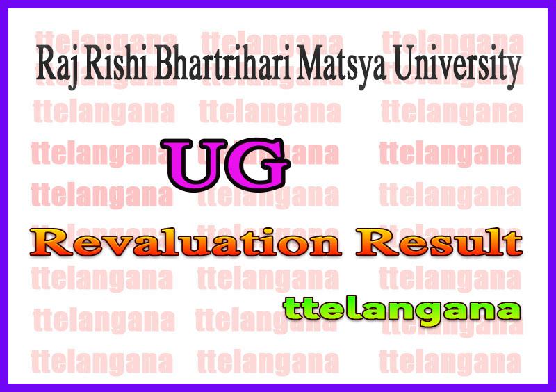 Raj Rishi Bhartrihari Matsya University UG Revaluation Result
