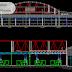 مخطط مشروع حظيرة ضخمة hangar من الهياكل المعدنية اوتوكاد dwg