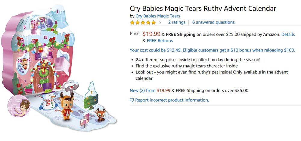 Cry Babies advent calendar price
