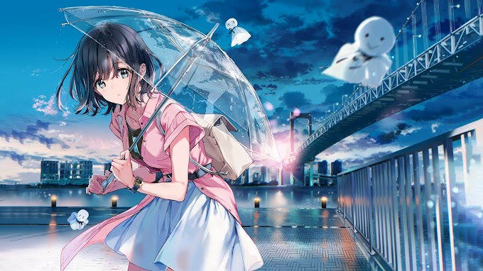 Anime Garota Com Guarda Chuva