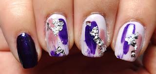 Silver Foil Nails