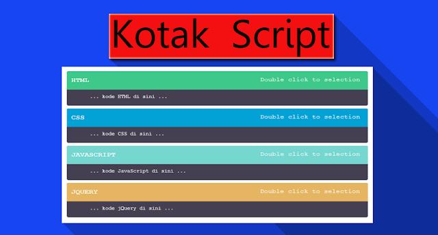Cara Membuat Kotak Script Dengan Scroll Pada Postingan Blog