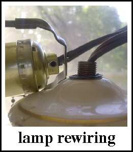 4 the love of wood re wiring a vintage lamp step by step rh 4theloveofwood blogspot com wiring vintage camper running lights wiring a vintage lamp