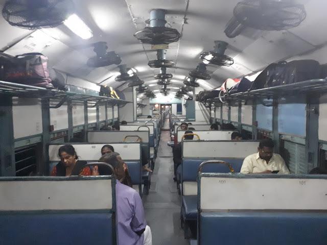 Intérieur d'un train indien
