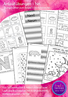 Alphabetisierung in Klasse 1 Übungsblätter und Aufgaben für den Buchstabenweg.
