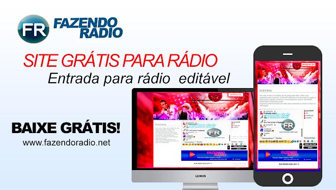 Site para rádio grátis - FAZENDO RADIO