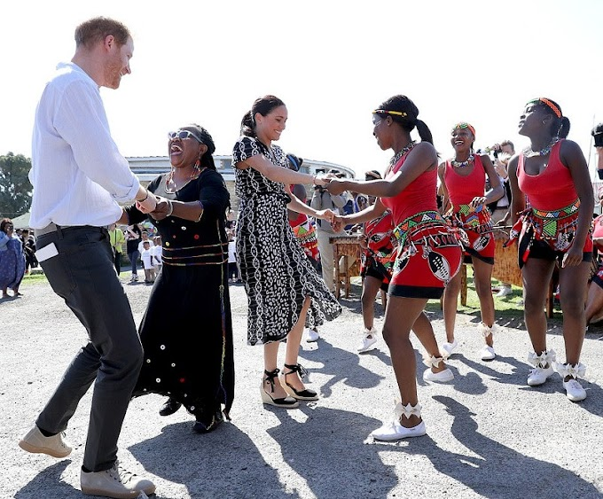 Harry and Meghan receive rousing welcome as they arrive in 'South Africa's murder capital