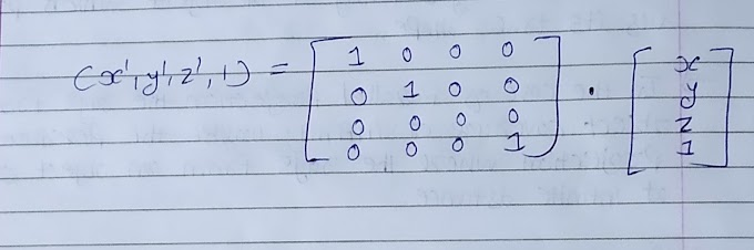 Derive The Equation And Transformation Matrix For Producing Parallel Projection On 2D Viewing Plane And Also Explain Orthographic And Oblique Projections