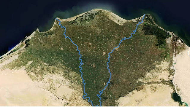 Nile river delta Egypt