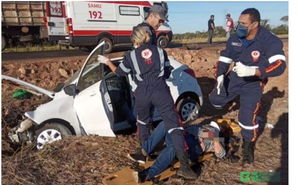 Capotamento na MT-246 deixa duas mulheres feridas em Barra do Bugres