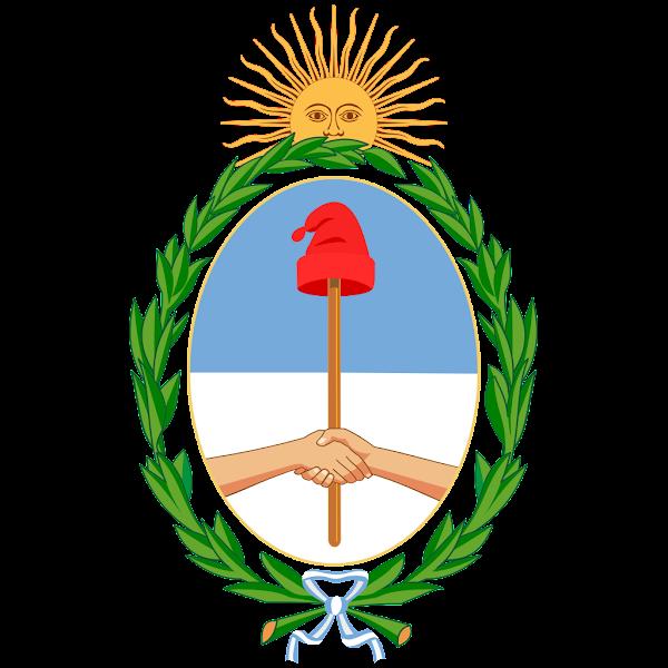 Logo Gambar Lambang Simbol Negara Argentina PNG JPG ukuran 600 px
