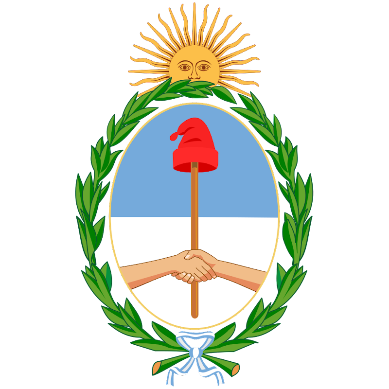 Logo Gambar Lambang Simbol Negara Argentina PNG JPG ukuran 800 px