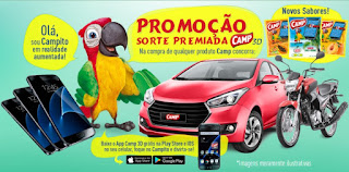 Cadastrar Promoção Sucos Camp 2017 Sorte Premiada 3D