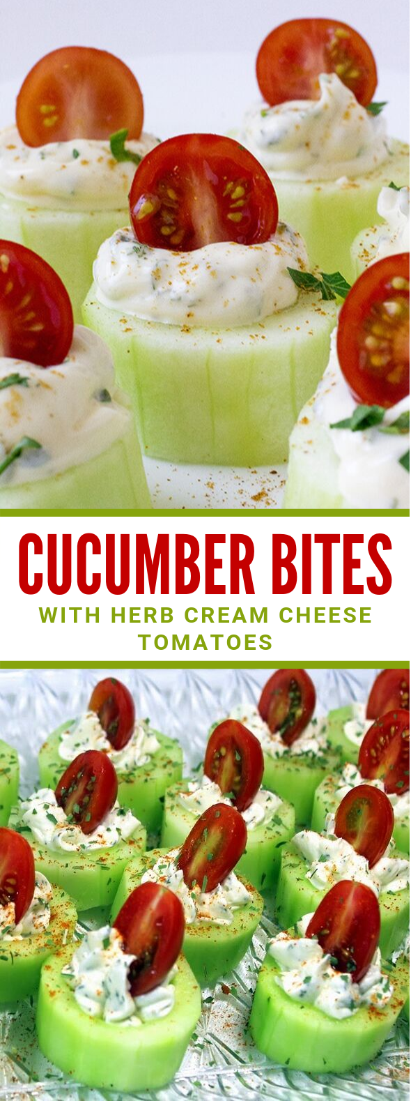 CUCUMBER BITES (WITH HERB CREAM CHEESE TOMATOES) #vegetarian #veggies