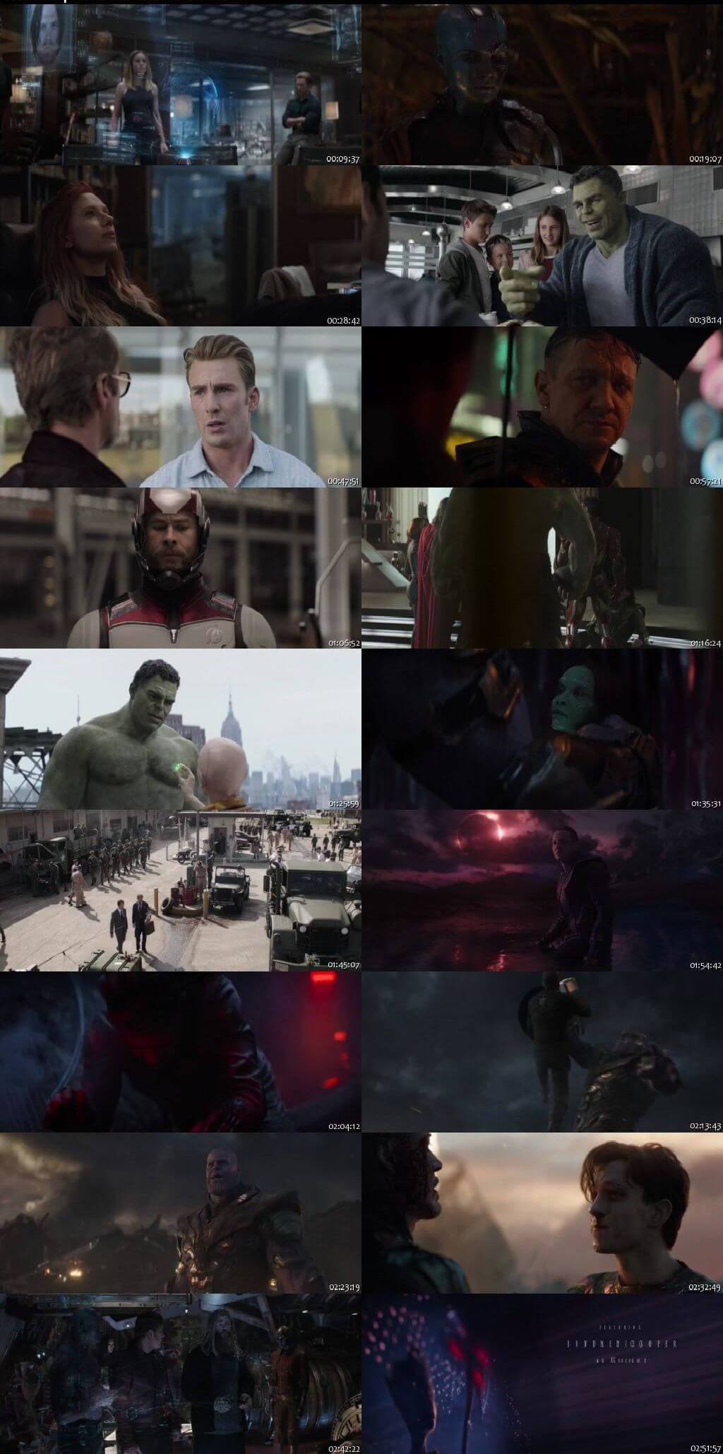 Screen Shot Of Avengers: Endgame 2019 In Hindi English Dual Audio Bluray