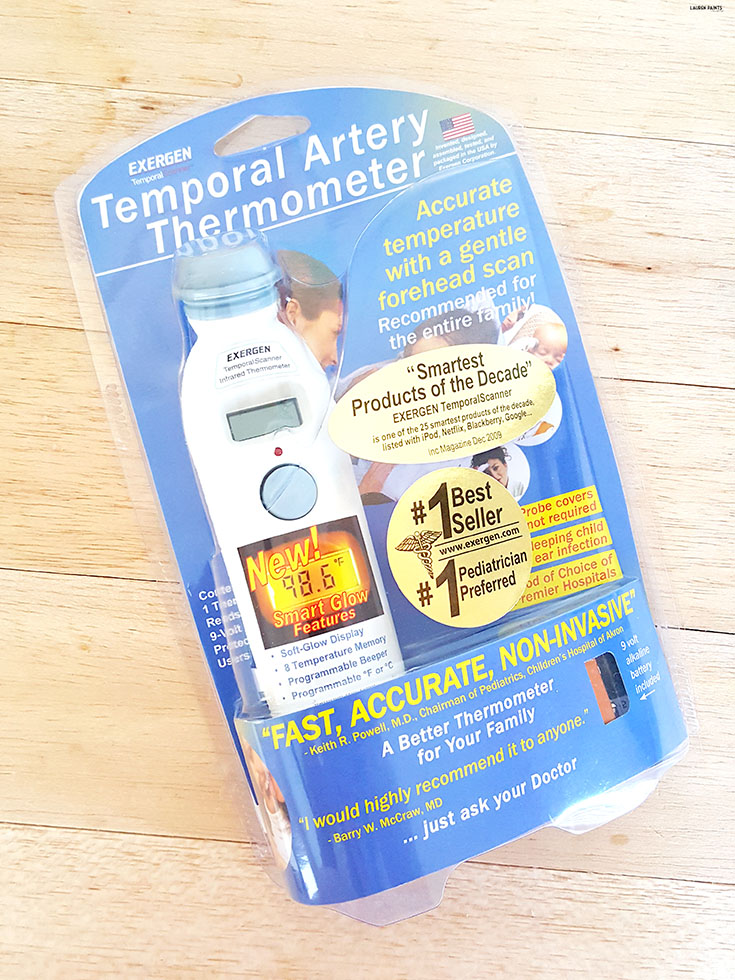 Take your babies temperature easily with this awesome TemporalScanner thermometer! #BabyShowerGiftGuide