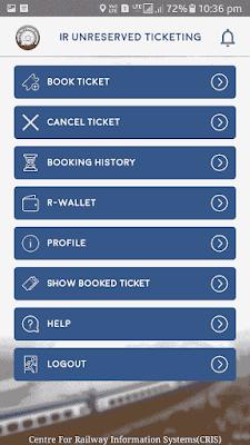 book ticket on uts app