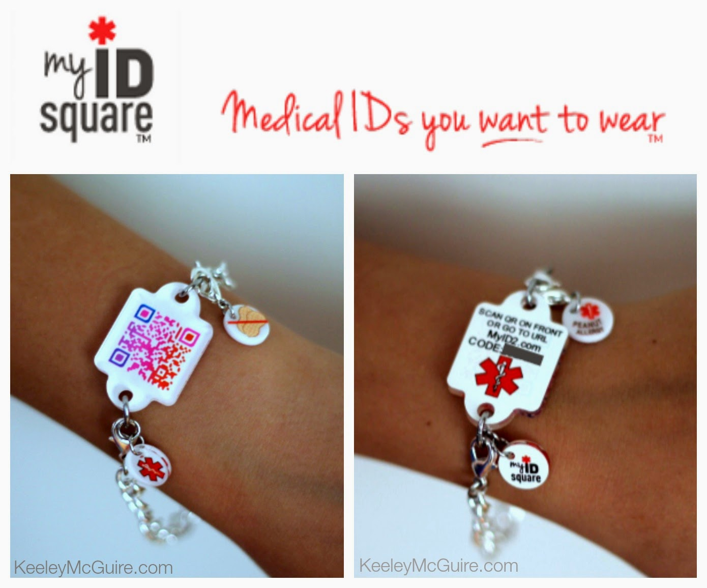 Gluten Free & Allergy Friendly: My ID Square: Medical IDs