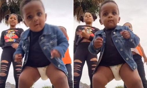 Toddler becomes viral sensation after crashing tiktok video