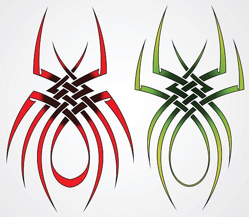 two spider tattoo designs 2012