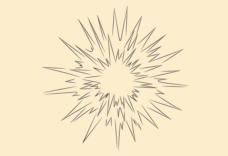 Gambar detail ledakan udara