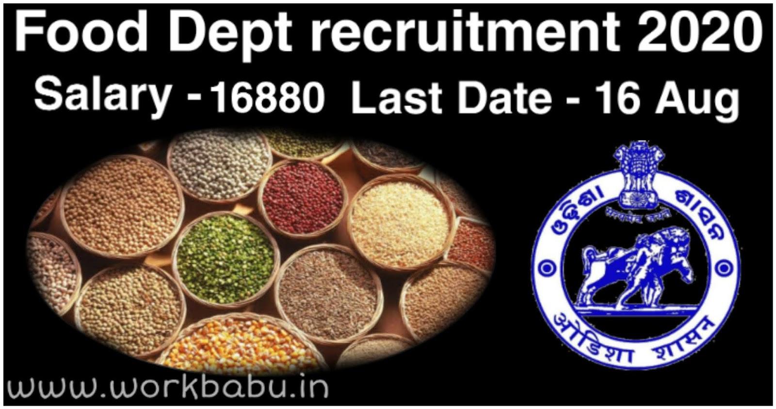 Food Dept recruitment 2020