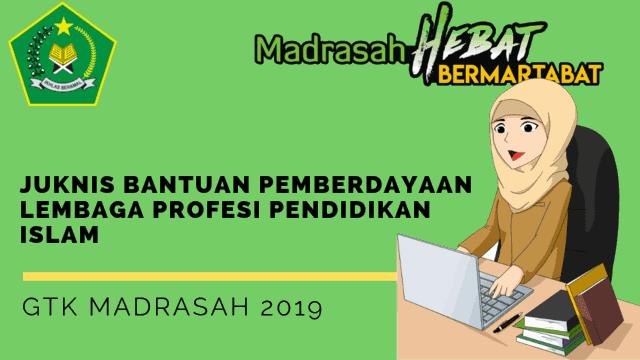 Juknis Bantuan Pemberdayaan Lembaga Profesi Pendidikan Islam GTK Madrasah 2019