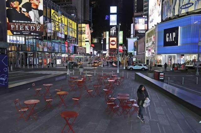 Nueva York esta vacío durante la pandemia de coronavirus