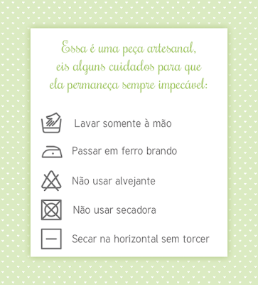 instruções para lavagem de tecido