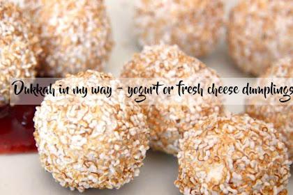 Dukkah in my way - yogurt or fresh cheese dumplings