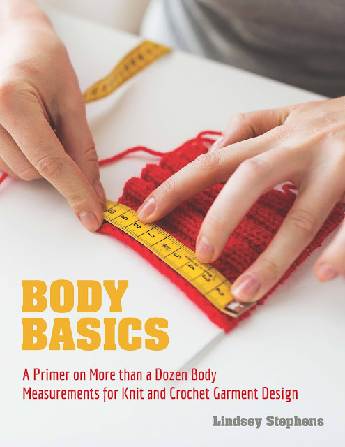Cover of the book Body Basics. Shows a woman's hands measuring a crochet swatch with a tape measure.