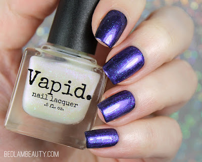 Vapid Lacquer No Can Do, Sugar Cube (over a black cream) | My Little Vapicorn Collection