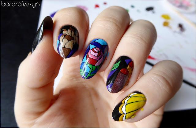 Piękna i Bestia paznokcie