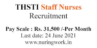 Staff Nurse jobs with 31500 Salary THSTI