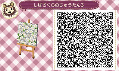 pattern azalée blanc animal crossing new horizons