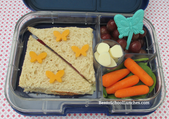 Butterfly school lunch, yumbox panino