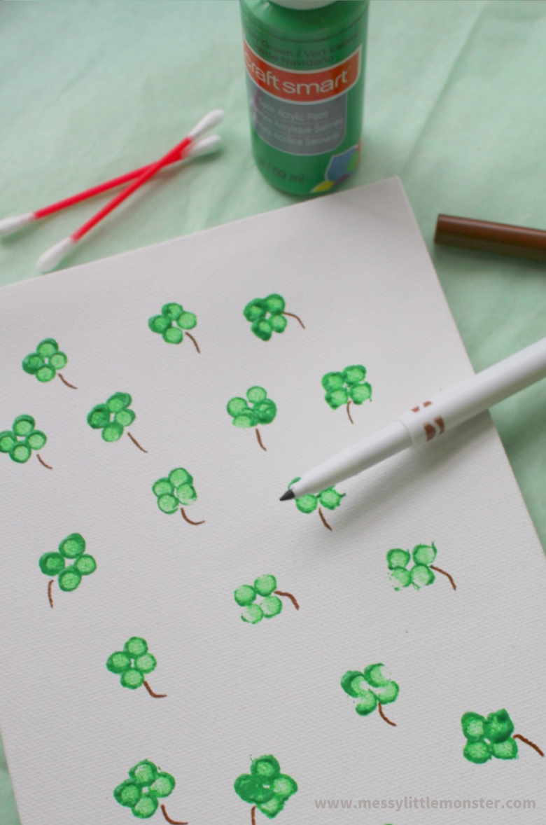 four leaf clover craft for toddlers