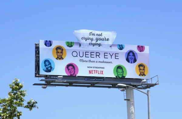 Queer Eye season 2 cut-out extension billboard