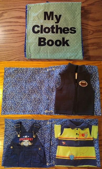 clothes quiet book
