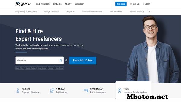 Guru website freelancer job yang populer didunia sudah terverifikasi kepercayaan orang banyak pungguna. Akan mempermudah pekerjaan anda bagi yang mempunyai bisnis online dan Guru freelancer akan memberikan Produk atau Jasa