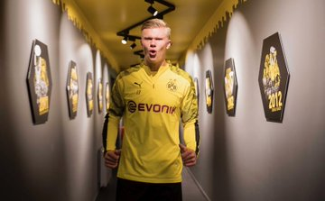 Erling Braut Haaland Arrives For First Day At Borrusia Dortmund After Transfer (Photos)