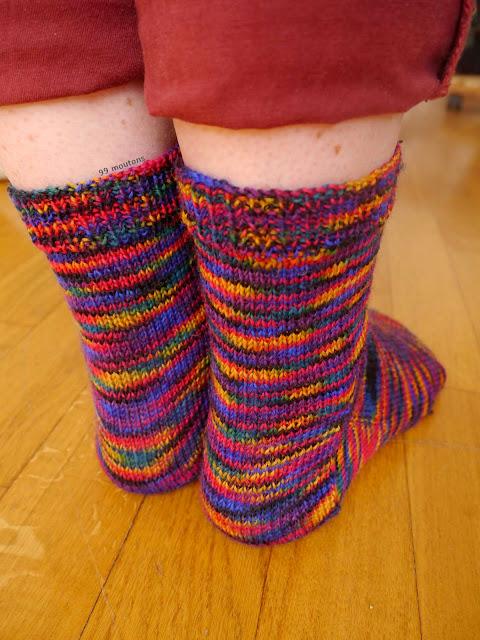 talon chaussettes en tricot