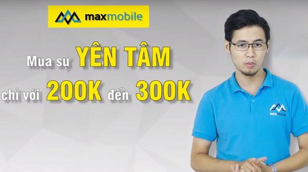 maxmobile bảo hành vàng