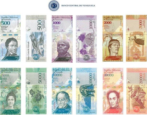 """Vuelven los """"tres ceros""""a los billetes venezolanos."""